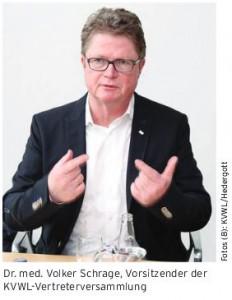 Volker Schrage, VV-Vorsitzender KVWL